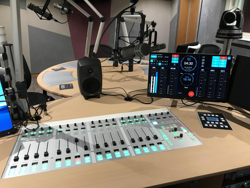 FM radio, Radio station, Sharjah Media Corporation, Pulse 95, English radio, UAE radio, Radio broadcasting, Lawo, Mixing consoles, Audio mixing, Digital mixing console, Fader, Routing, AES67, Audio over IP