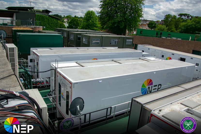 By deploying its new IP-based outside broadcast (OB) trucks, NEP UK can offer increased flexibility compared to coaxial cable connections and significantly reduce the expense and use of unsightly cabling throughout the All England club grounds.