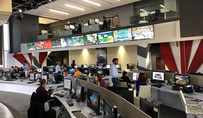 Qvest Media, System integration, Channel launch, Jordan, Al Mamlaka, Broadcast infrastructure, Broadcast equipment, Studio launch, Newsroom