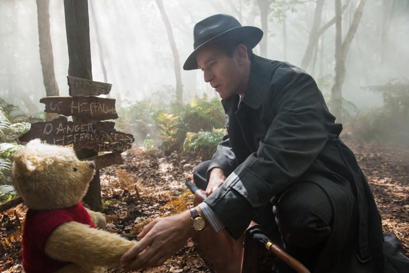 Christopher Robin Ewan McGregor with his long time friend Winnie the Pooh in Disneys liveaction adventure CHRISTOPHER ROBIN