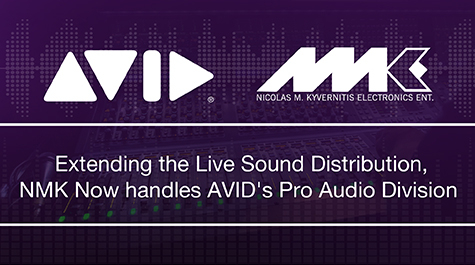 AVID, NMK Electronics, Nicolas Kyvernitis Electronics (NMK), Avid inks live sound partnership with NMK, Avid Pro Tools, Distribution deal, Middle East distributor, Audio solutions