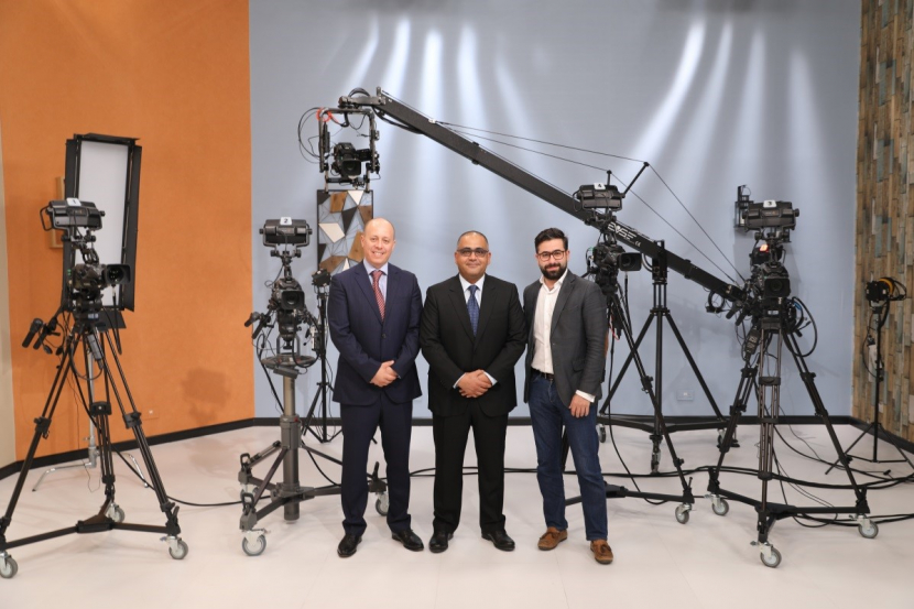 From L to R: Sahl Beldi: Marketing Manager at UBMS, Amr Moustafa: Head of TV operations and Production at Citruss World Of Shopping, Riad Obaid: Territory Sales Manager at MediaCast