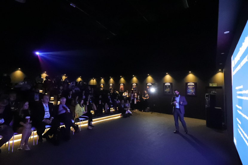 It was standing room only, as an audience of 105 accredited content buyers packed into the boutique cinema on Day 1 of CABSAT.