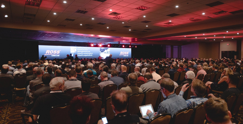 A packed house at the Ross Video NAB 2019 keynote