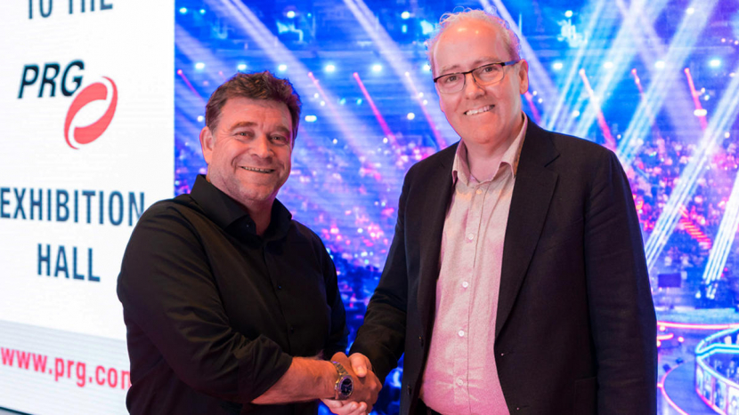 Peter McCann, CEO for PRG (R) in the Middle East and Andy Jackson, the Managing Director of Delta Sound