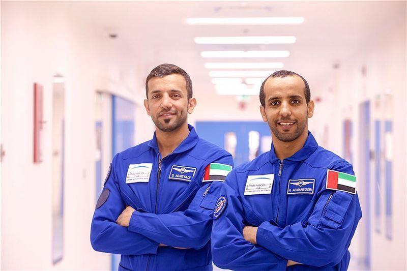 The UAE's first astronauts, Sultan Al Neyadi and Hazzaa Al Mansouri.