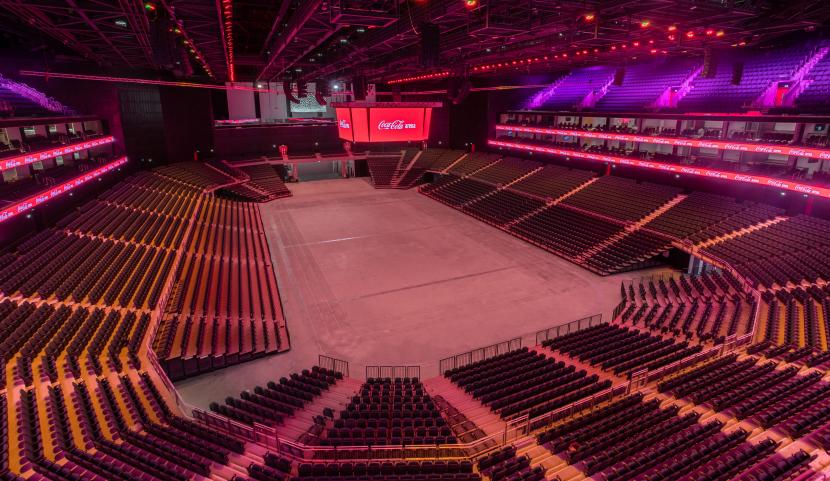 Coca-Cola Arena, Dubai Arena, AEG Ogden, Dubai, Stage Technologies, Event technology, PRO-AV, Media & entertainment, Event venue, Led lighting, Event production, Sports production, Live entertainment, UAE live events industry, Middle East events, Indoor Venue