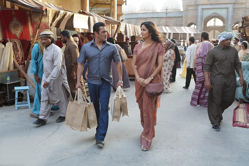 Salman Khan and Katrina Kaif on location in Abu Dhabi