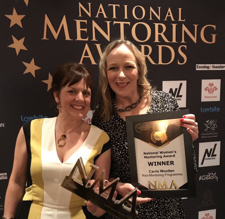 Rise recently won the National Women's Mentoring Award, at the National Mentoring Awards in the UK