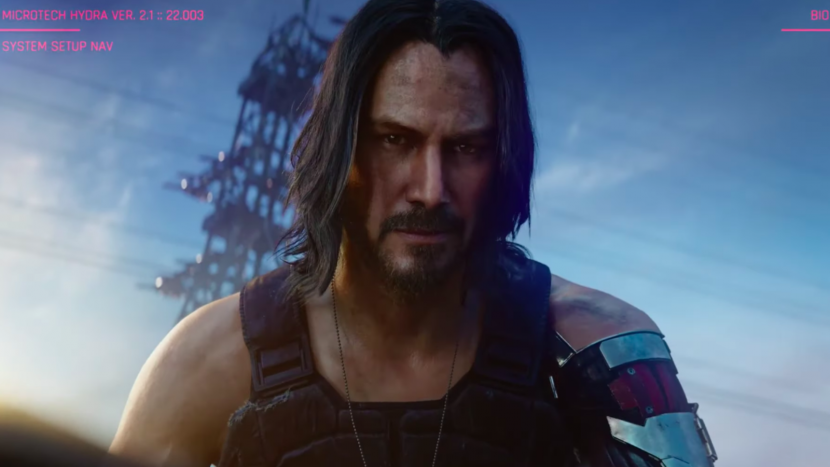 Keanu Reeves as he appears in video game Cyberpunk 2077