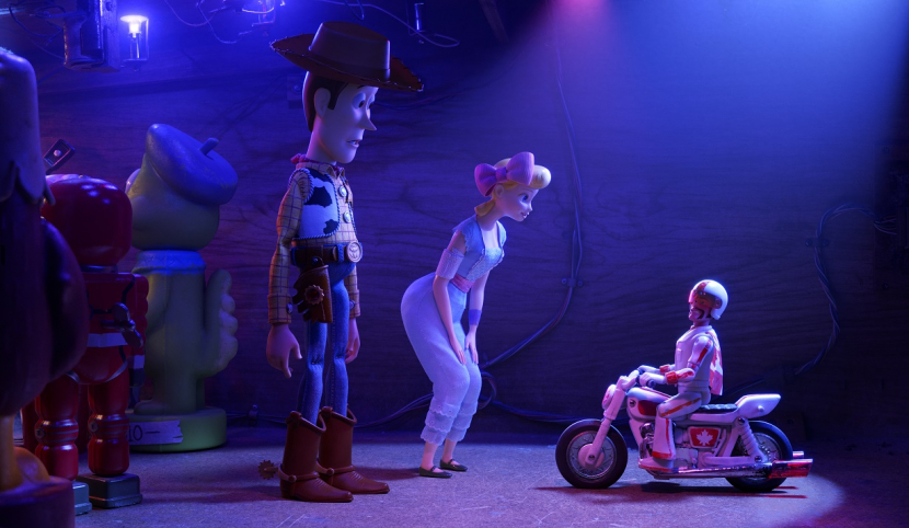 DUKE CABOOM  In DisneyPixars Toy Story 4, Woody and Bo turn to a 1970s toy called Duke Caboom for help. Based on Canadas greatest stuntman Duke comes with a powerful stuntcycle and hes always prepared to show off his stunt poses with confidence and swagger Featuring Keanu Reeves as the voice of Duke Caboom Toy Story 4 opens in US theaters on June 21 20192019 DisneyPixar All Rights Reserved