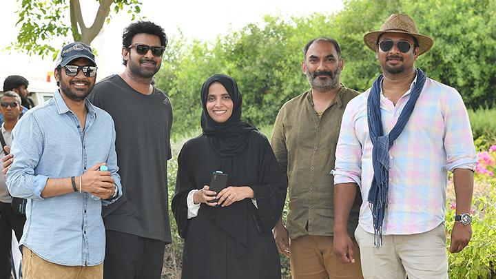 Maryam Eid AlMheiri, CEO of twofour54 Abu Dhabi, with the Saaho team