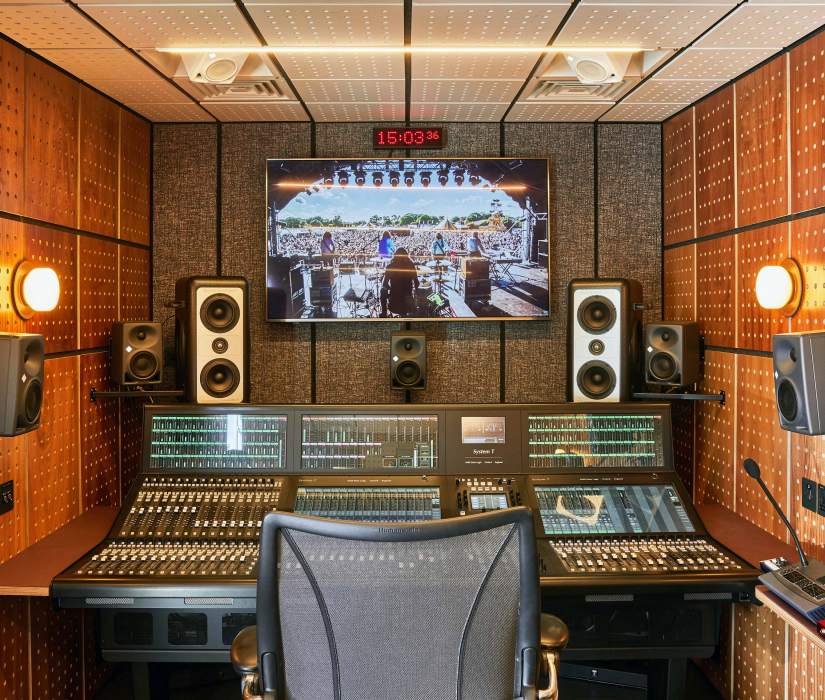 Spiritland Productions' audio OB van kitted out with Solid State Logic's System T S500 audio console.