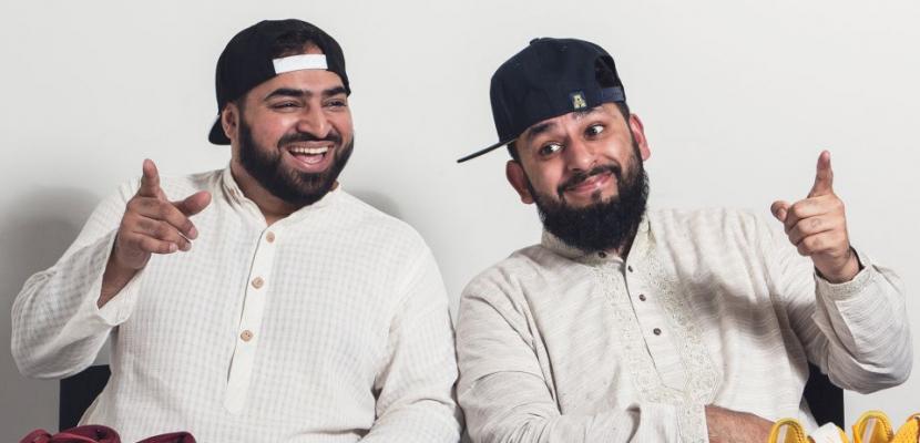 Instagram influencer Ali Shahalom and stand-up comedian Aatif Nawaz, the stars of the BBC's Muzlamic. (Image courtnesy of BBC Studios).