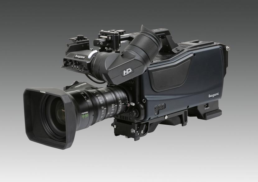 The Ikegami SKD-810 8K hand-held broadcast camera.