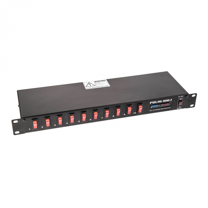 The PDU16-10DJ is among the new range of slimline power distribution units.