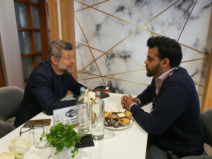 Andy Serkis talks to Digital Studio editor Nikhil Pereira on the sidelines of IBC 2019.