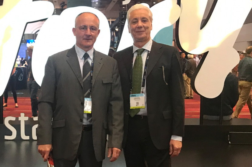 Video Signal founder and CEO Alessandro Trezzi with (on right) Rome office director Vincenzo Bartiromo.