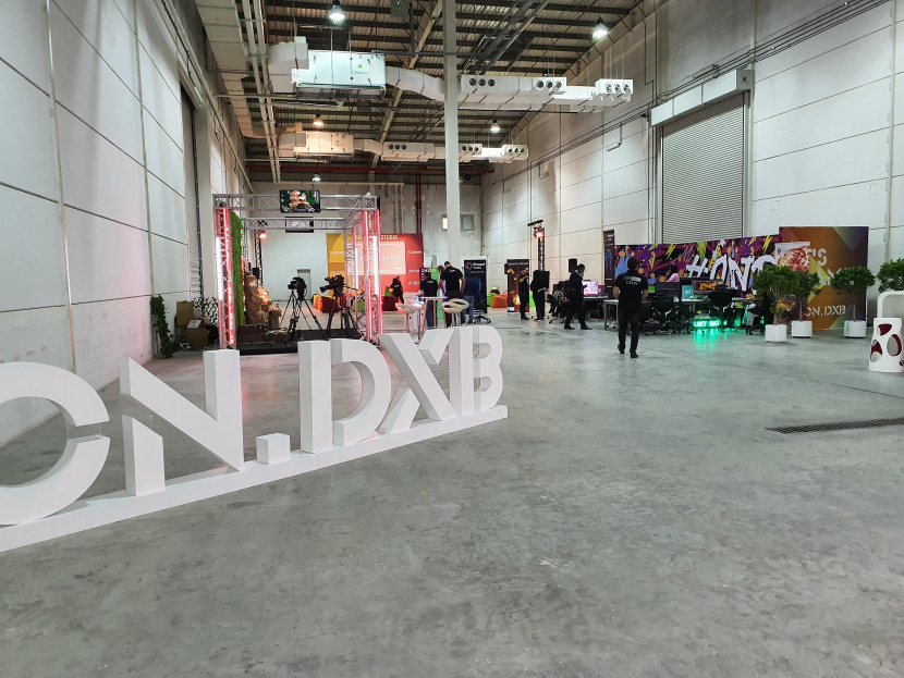 Canon's studio on the left at the On.Dxb festival.