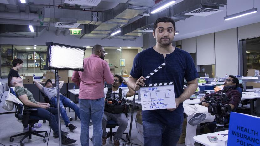 Faisal Hashmi on set.