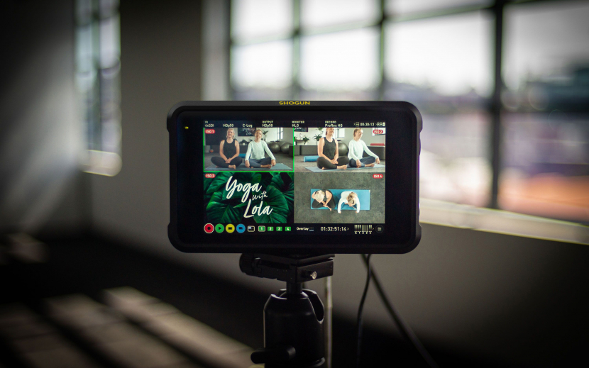 The update adds touch-controlled switching, quad monitoring and ISO recording functionality to the Shogun 7