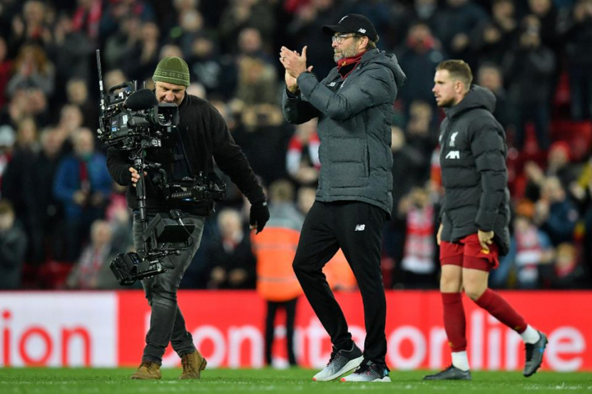 Liverpool manager Jurgen Klopp following his team's victory in the Premier League.