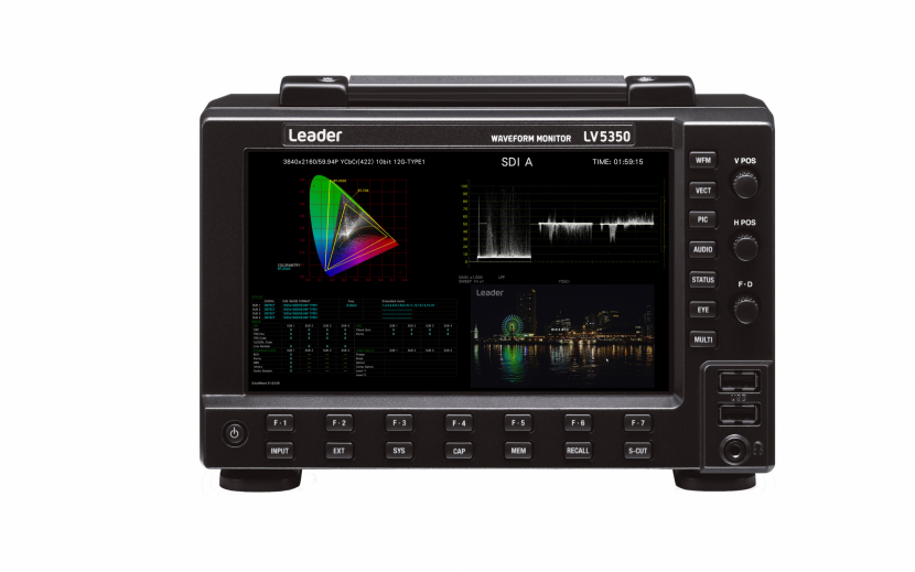 The vehicle includes seven Leader test instruments and an LT4448 error-detecting automatic channel switcher.
