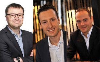 Benoit Quirynen, SVP strategy; Nicolas Bourdon, chief marketing officer and Quentin Grutman, chief customer officer.