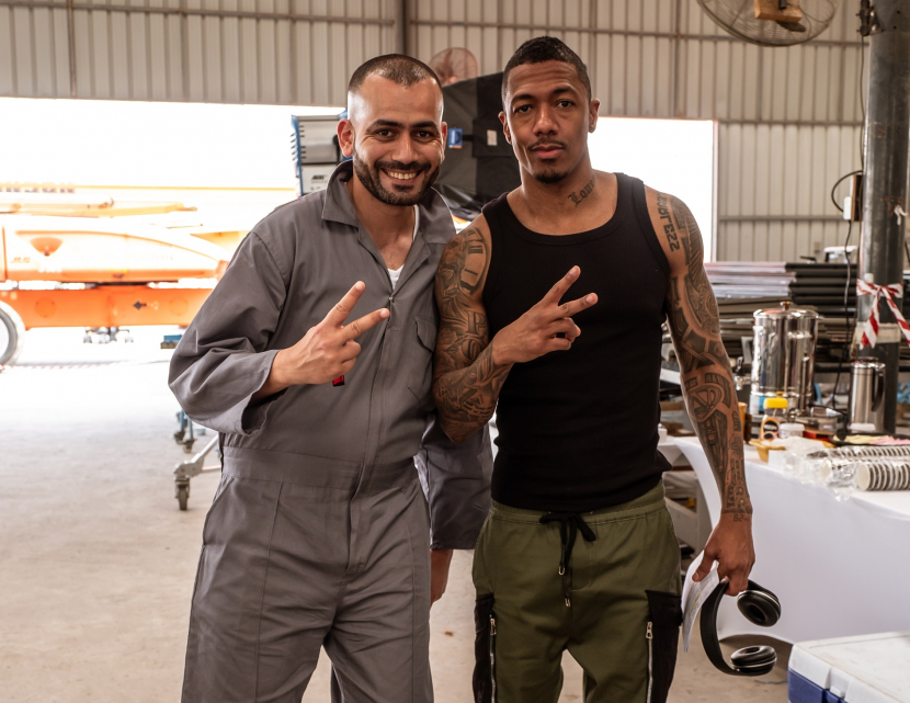 Rami Jaber with Nick Cannon.