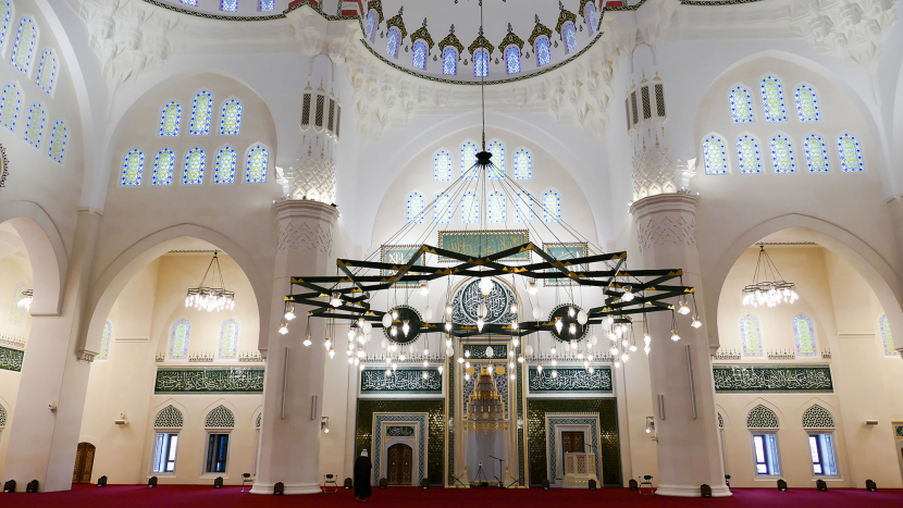 The Sharjah Grand Mosque is the second largest mosque in the UAE