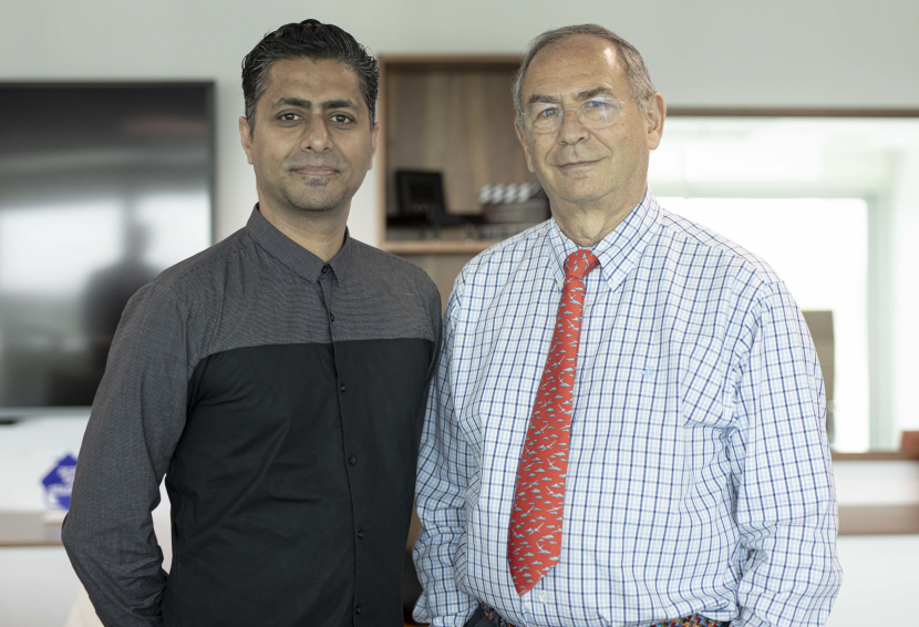 Hussain 'Spek' Yoosuf (Left) and TwoFour54 CEO Michael Garin (right)