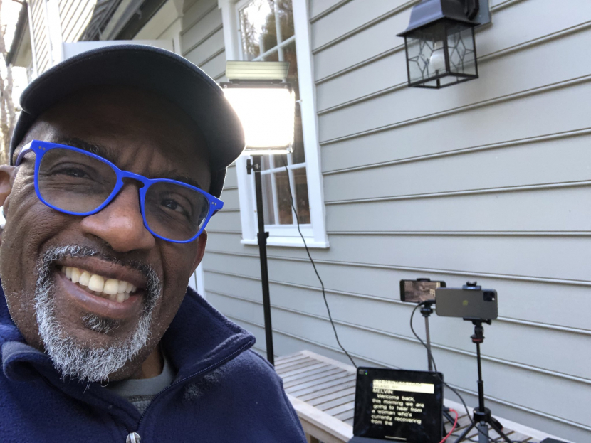 Al Roker giving a sneak peek into his set up that he used to broadcast NBC's 'The Today Show'.