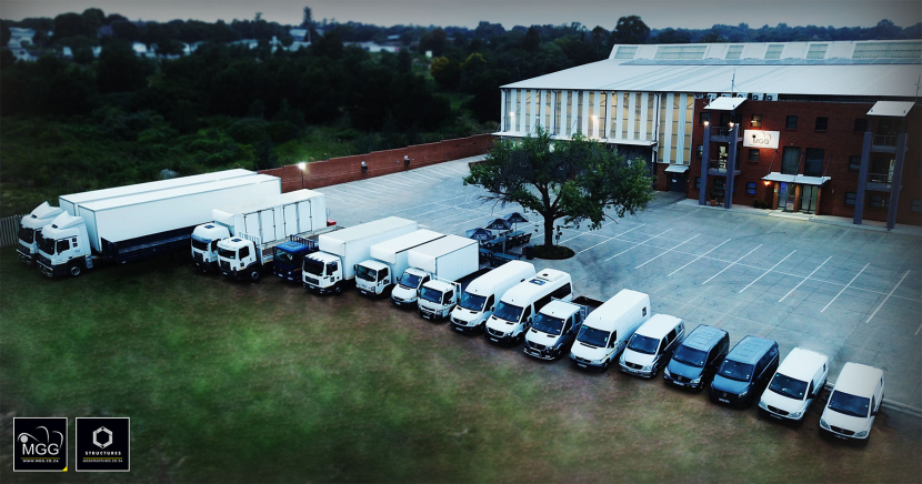 MGG's vehicle fleet outside its warehouse in Johannesburg, South Africa.