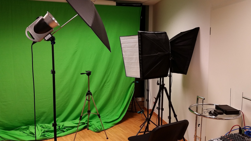 Several news and infotainment sets have been hurriedly set up in living rooms to facilitate filming and broadcast.