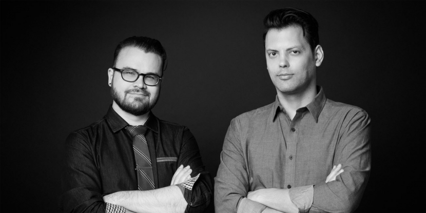 Michael Cioni (left), Frame.io's Global SVP of Innovation along with the company's CEO and co-founder Emery Wells.