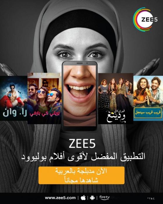 Zee5, Archana Anand Zee, Bollywood films in Arabic, Arabic dubbing, Ott platforms