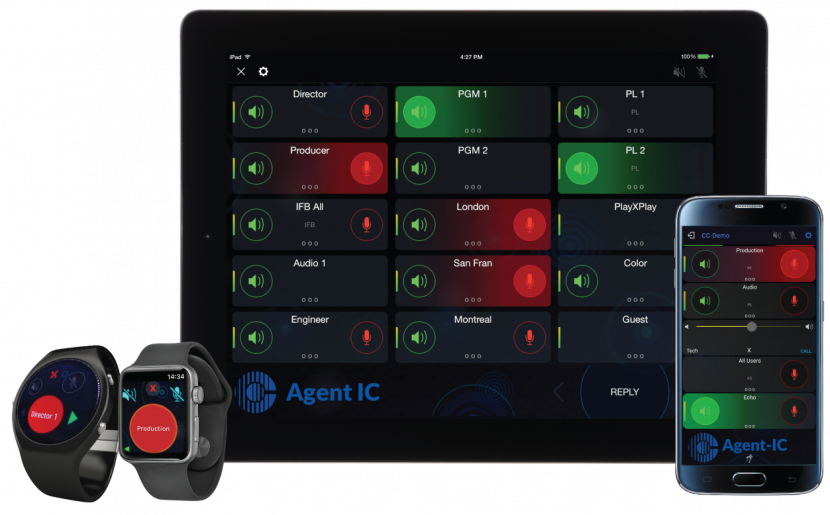 Agent IC Ipad and Android UI by Clear-Com