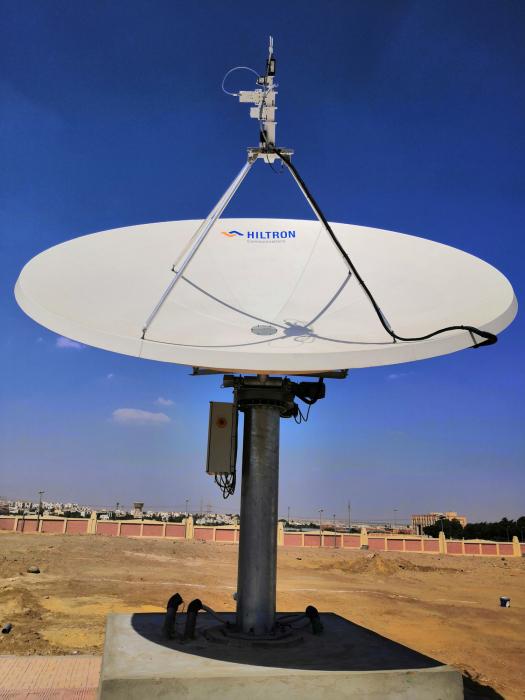 Hiltron HMAM motorised antenna at Nilesat ground station in Giza.