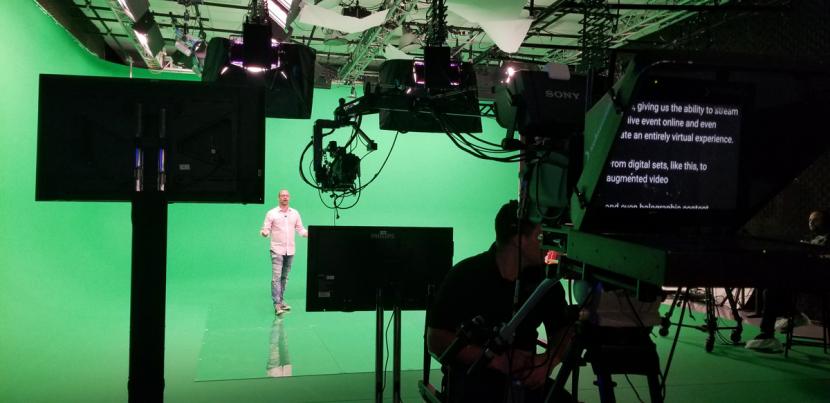 MIG's virtual studio set up.