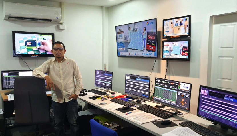 TV Direct's MCR manager Akarachai Tobsin in the network's playout control suite.