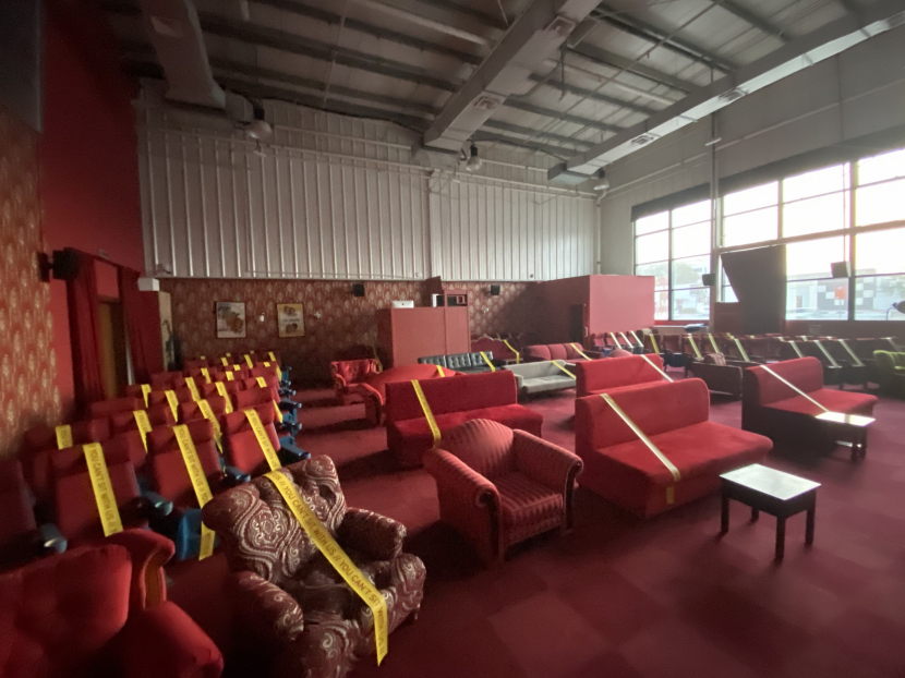 Only 30% of the cinema's seats will be open to the public.