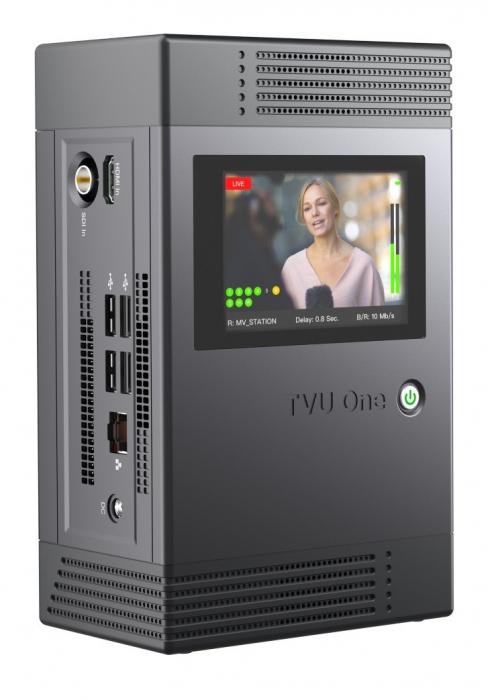 TVU One cellular mobile transmitter with integrated 5G modem.