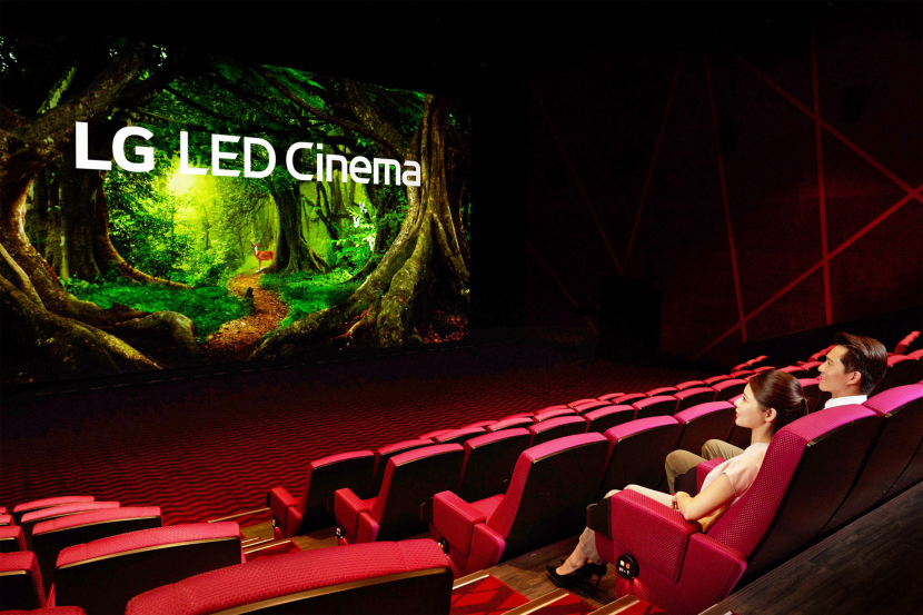 The new LED screen replaces the traditional projector system used in theatres.
